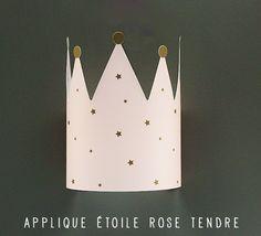 Applique Murale étoile Pour Chambre Fille Rose Et Grise.