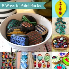 8 Interesting Ways to Paint Rocks. Perfect for Gabby since she loves to collect rocks!