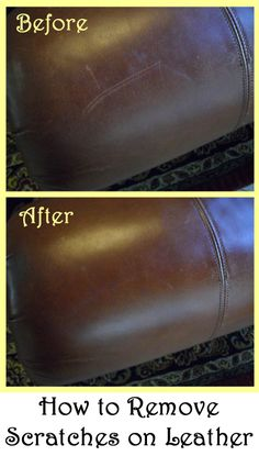 How to remove scratches on leather.