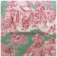A personal favorite from my Etsy shop https://www.etsy.com/listing/539145421/countryside-toile-de-jouy-by-duralee