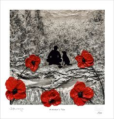 A Winter's Tale, Signed Limited Edition Giclée Remembrance Art by Jacqueline Hurley A soldier and dog from the War Poppy Collection Remembrance Day is every day Remembrance Day Poppy, Original Art, Original Paintings, Winter's Tale, Limited Edition Prints, Art Reproductions, Hurley, Fine Art Paper, Giclee Print