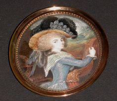 Stephanie Felicite du Crest de Saint-Aubin, Comtesse de Genlis, Marquise de Sillery (1746-1830) / Miniature.