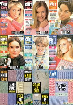 Rare Machine Knit Today Magazine Collection Free PDF Downloads