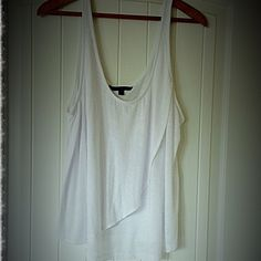 American Eagle Outfitters Top~Tunic Super versatile soft white cotton top tunic states an x l but I am an xs to s and I love this as a flowy sexy top to bare the shoulders looks ideal over cute bra or bandeau soft and cute in excellent like new condition American Eagle Outfitters Tops Tank Tops