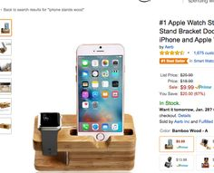 http://www.amazon.com/Aerb-Charging-Bracket-Docking-Station/dp/B00XVUC4EG/ref=sr_1_1?ie=UTF8&qid=1453912326&sr=8-1&keywords=iphone+stands+wood