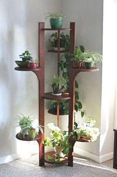 House Plants Decor, Plant Decor, Garden Plants, Indoor Plant Shelves, Garden Shelves, Cover Design, Modern Plant Stand, Wooden Plant Stands, Iron Plant