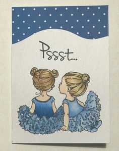 Penny Black 'Whispers' Mo Manning Cling Stamp Copic Sketch markers