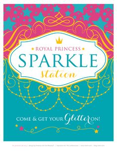 Pinning this just because I like the design and colors, maybe for our logo design? FREE Printables: Sparkly Disney Princess Birthday Party- in love with these FREE princess printables! It literally makes Me want to throw a princess party right now! Disney Princess Invitations, Disney Princess Birthday Party, 3rd Birthday Parties, Girl Birthday, Themed Parties, Mouse Parties, Birthday Cakes, Birthday Ideas, Free Printable Party Invitations