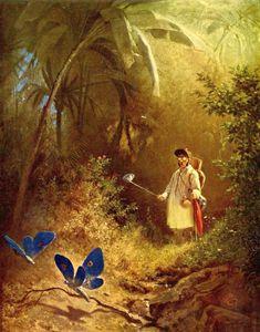 Carl Spitzweg The Butterfly Hunter