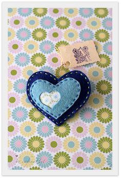 heart brooch by Alicia