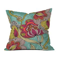 Add a rainbow of colors (and a dose of East Indian magic) with this beautiful floral throw pillow. Just prop on your favorite arm chair or couch, and watch your space come to life. Choose either pillow...  Find the Indian Flowers Pillow, as seen in the Bohemian Sanctuary Collection at http://dotandbo.com/collections/bohemian-sanctuary?utm_source=pinterest&utm_medium=organic&db_sku=DNY0018