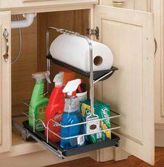 Rev-a-Shelf Removable Under-sink Caddy - modern - cabinet and drawer organizers - Home Decorators Collection Kitchen Organization, Kitchen Storage, Storage Organization, Storage Ideas, Kitchen Organizers, Sink Organizer, Organizing Tips, Storage Solutions, Storage Spaces