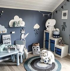 Nursery Trends for 2017 Keeping organized is essential for each new parent. There are tons of m Baby Bedroom, Baby Boy Rooms, Baby Room Decor, Baby Boy Nurseries, Nursery Room, Blue Kids Rooms, Boys Room Colors, Nursery Decor, Room Inspiration