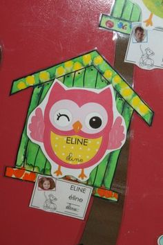 porte de classe Owl Classroom Decor, Classroom Themes, Plasticine, Mail Art, Kids And Parenting, Preschool, Education, Centre, Alphabet