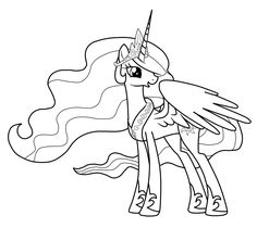My Little Pony Princess Celestia Coloring Pages Coloring