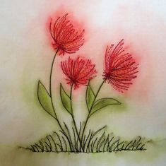 Week 1 - Use Derwent Inktense Pencils to create a painted flower on fabric with Brandy Lynn.