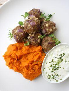 lindastuhaug - lidenskap for sunn mat og trening I Love Food, A Food, Food And Drink, Tzatziki, Hummus, Mashed Potatoes, Clean Eating, Curry, Brunch