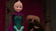 The witch turns Elsa into some sort of hag. Comment what  you think about this. #Weird<<< Previous Pinner said that and a person corrects her that's Elpabanana  (Idk how to spell it) and calls her an uncultured swine from toy story