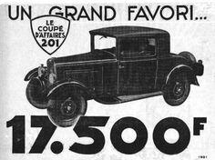 Coupé Peugeot 201, 1931