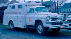 us Lambertville,NJ  FD Chevrolet + Adam Black Rescue Squad 1958