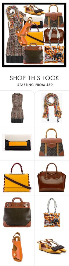 """""""Leather & Tweed"""" by kareng-357 ❤ liked on Polyvore featuring Alexander McQueen, J.Crew, rag & bone, Gucci, Emilio Pucci, Givenchy, Salvatore Ferragamo, STELLA McCARTNEY and Marni"""