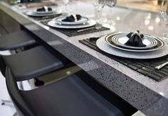 Silestone STEEL at your kitchen table. Sold at Lowe's!
