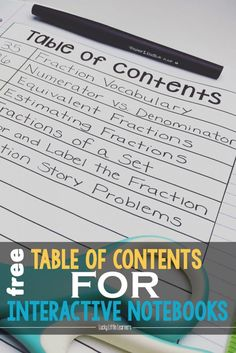 1000 Ideas About Table Of Contents Template On Pinterest