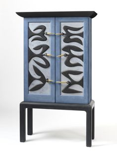 Judy Kensley Mckie Blanket Chest With Snakes 2010 Carved And Painted Cedar Judy Kensley