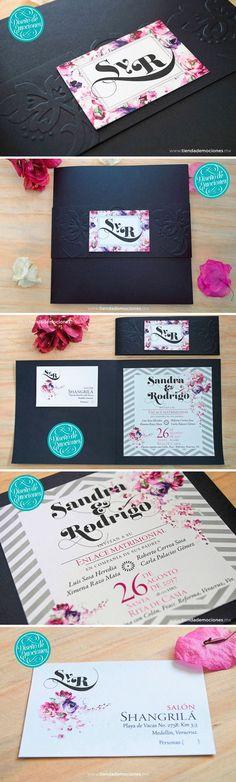 NUESTRAS INVITACIONES SON ¡JUSTO COMO LAS SOÑASTE! Por introducción de nuestro cátalogo en línea, tenemos una promoción emocionante: 3 modelos ¡A UN ÍNCREÍBLE PRECIO! Adquiérelas en nuestra tienda en línea o vísitanos en nuestro showroom. Este modelo de invitaciones DESDE $40 c/u ¡mejor imposible! http://www.tiendademociones.mx/categoria-produ…/invitaciones #invitacion #boda #black #wedding