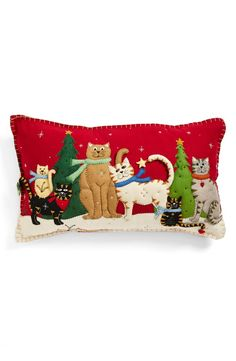 New World Arts Six Cats Accent Pillow   Nordstrom