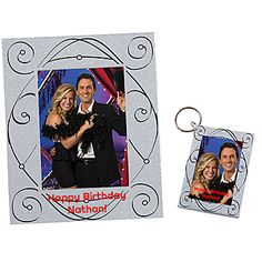 Our Elegant Swirl Glitter Favor Combo will be an excellent favor for any party with the swril design on our silver glitter keytag and frame.