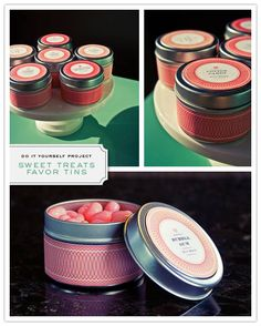 Do It Yourself Project: Sweet Treat Favor Tin - Inspired Bride