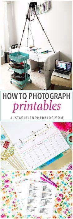Si alguna vez has visto frustrados por intentar fotografiar imprimibles, no miś este post!  Ella camina a través de ella toda la fotografía proceso paso a paso, y es muy útil!  Haga clic a través de la publicación para ver cómo lo hace!
