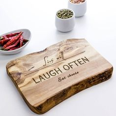 Personalised Wooden Chopping Or Cheese Board. This would make for a fantastic present. We have the perfect plain wooden chopping board that is ready to be decorated. It can be engraved or wood burned if you prefer pyrography. Visit www.craftmill.co.uk for more information.