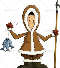 Realistic Graphic DOWNLOAD (.ai, .psd) :: http://jquery-css.de/pinterest-itmid-1002046622i.html ... Eskimo ...  cartoon, character, eskimo, esquimau, fish, fisherman, fun, fur coat, hook, isolated, men, nationality, north, northern, vector  ... Realistic Photo Graphic Print Obejct Business Web Elements Illustration Design Templates ... DOWNLOAD :: http://jquery-css.de/pinterest-itmid-1002046622i.html