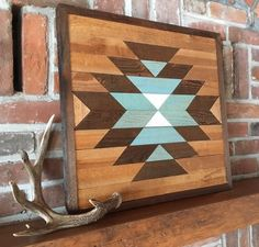 Excited to share this item from my shop: Reclaimed wood wall art - Southwestern wood wall decor - Navajo art inspired Reclaimed Wood Wall Art, Salvaged Wood, Wood Wall Decor, Wooden Wall Art, Wood Art, Barn Wood, Repurposed Wood, Wood Wood, Art Decor