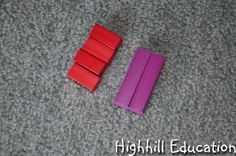 Multiplication and Square Numbers with Cuisenaire Rods