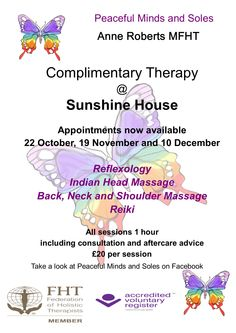 Complementary Therapy, why not treat yourself take that well earned relaxation ask about our taster sessions.