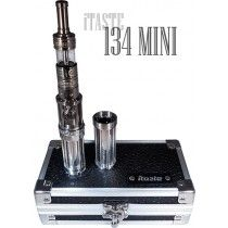 Here is the Innokin iTaste 134 Mini, the little brother of the iTaste 134. The 134 Mini comes with an iClear X.I Clearomizer (Pyrex). This unit houses either an 18350 or 18500 size battery, depending on which casing you choose (comes with both), and has a variable wattage (VW) feature. Batteries sold separately.