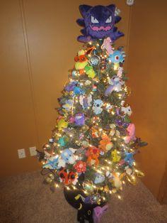 My pokemon christmas tree!!!!!!!!  Gracie's / Isla Evangeline's awesome tree!