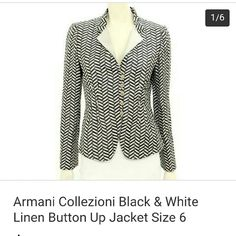 Armani Collezione linen blazer 100% authentic. In excellent condition. Gorgeous design and quality craftsmanship. A must have. Made in Italy. Armani Jackets & Coats Blazers