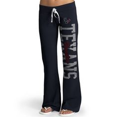Houston Texans '47 Brand Womens Pep Rally Pants – Navy Blue - want, want, want!
