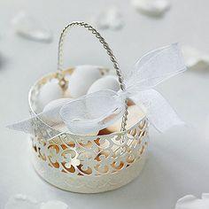 Metal Cut Out Favor Basket