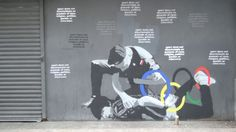Sochi Winter Olympics: Newcastle street art protests against Russia's anti-gay laws - video