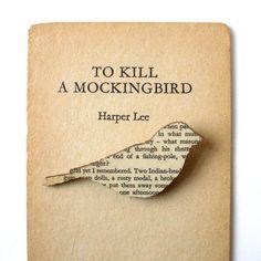 To Kill a Mockingbird book brooch