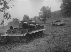Немецкие танки «Тигр» и «Пантера», подбитые в районе Дрогобыча