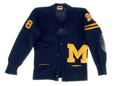 #Varsitystyle, Rare #Woolcardigan sweater #college50s #collegecardigan http://www.madeinused.com/product-category/sports/college/