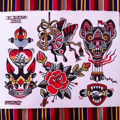 Tattoo flash by El Bueno Tattooer.