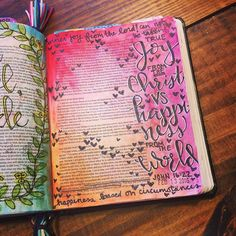 "John 16:22 ""So also you have sorrow now but I will see you again and your hearts will rejoice and no one will take your joy from you."" There is a huge difference in joy and happiness. Joy is an attitude from the Lord regardless of what we are going to through. Happiness is based on worldly circumstances that can change in an instant. Lord let me have true joy from you not happiness based on what is happening right now in my life. #biblejournaling #illustratedfaith #john16 by…"