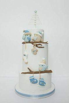 Christmas Birds <3 - by Diletta Contaldo @ CakesDecor.com - cake decorating website